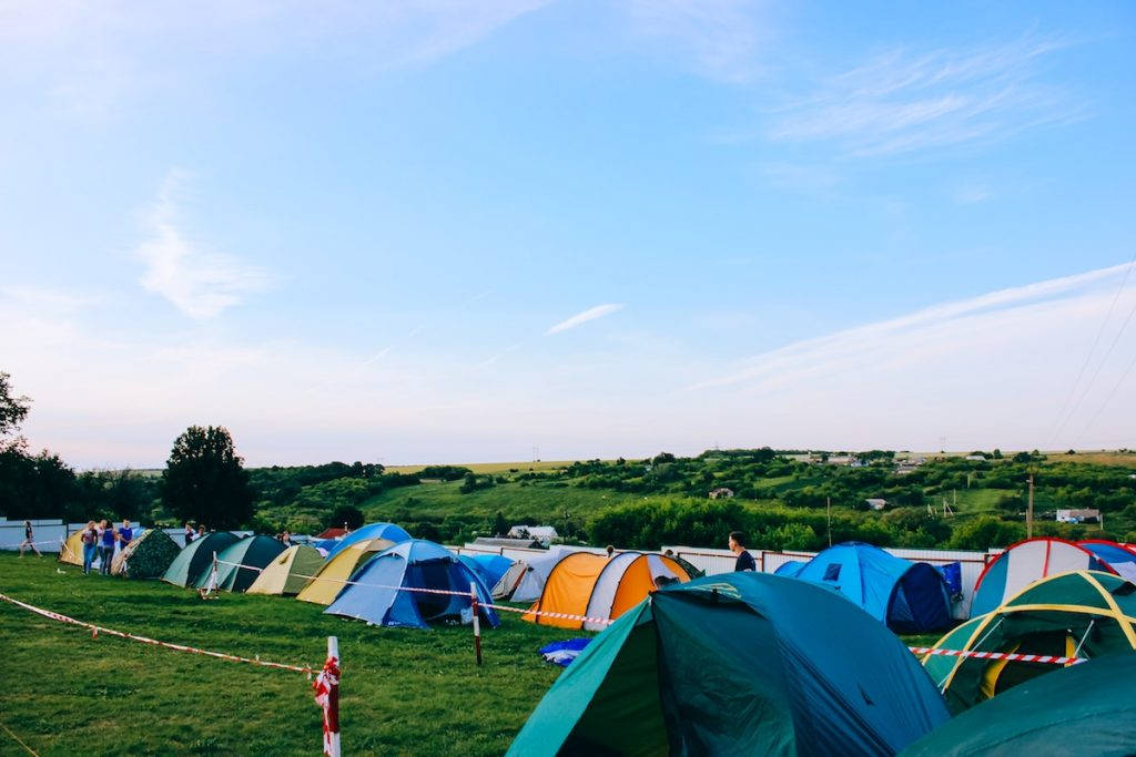 colorful tents at campsite
