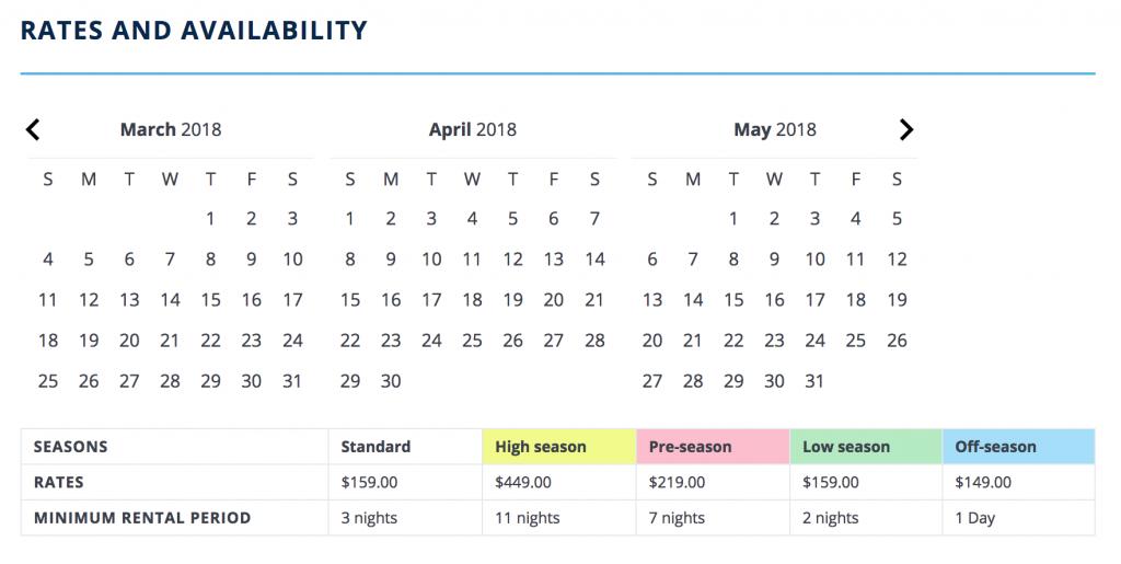 RV high season pricing
