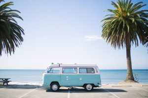 vintage volkswagen vw camper van surfing