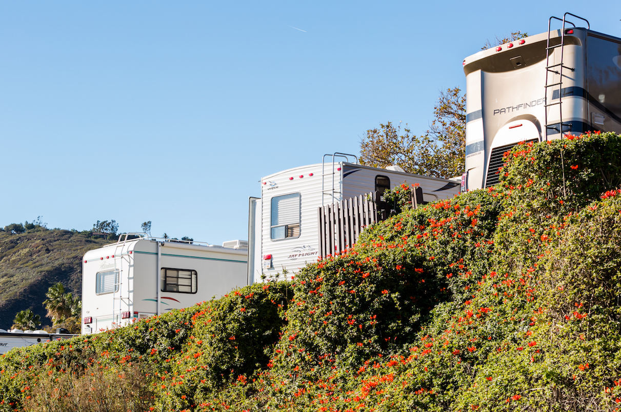 Winter RV Camping On Cost Of California With Flowe