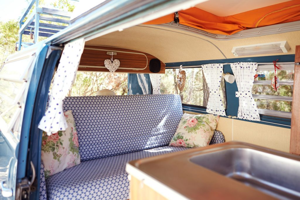 volkswagen camper van vintage VW camervan interior