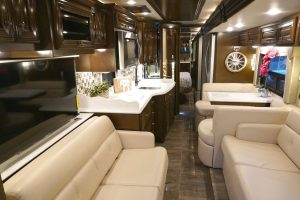 visit rv dealership to see inside rv models