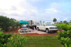 rv family camping trip