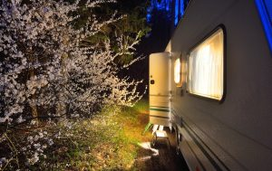 close your curtains at night in an rv camper