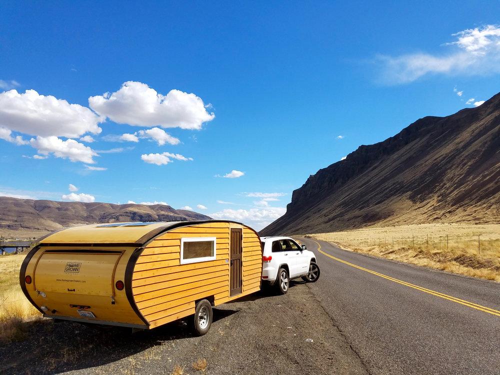 wooden trailer teardrop wooden handmade rv towable
