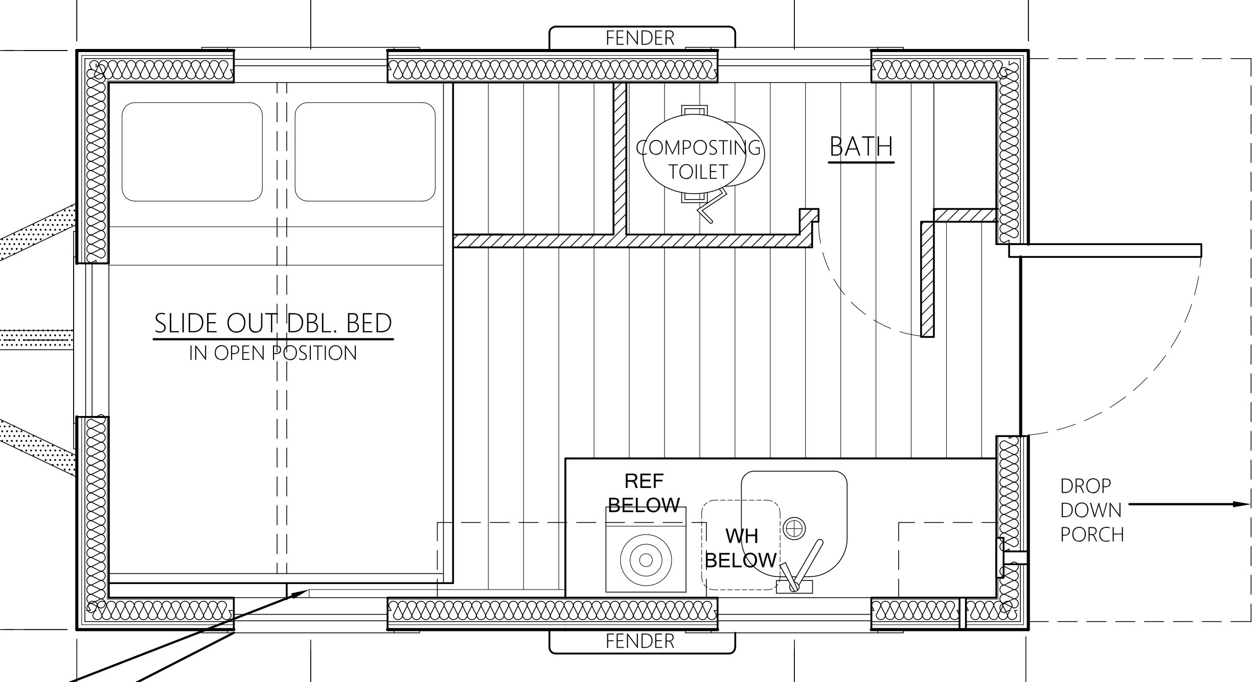 tiny house floor plans. Salsa-Box-Tiny-House-Floor-Plan-Sample Tiny House Floor Plans