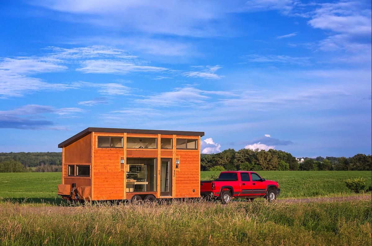 towable tiny home trailer cedar wooden handmade