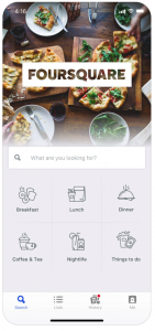 foursquare rv app find restaurants