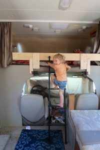 happy camper overhead cabover bunk rv kids bed rv bunk bed