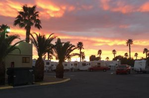 rv resort las vegas sunset