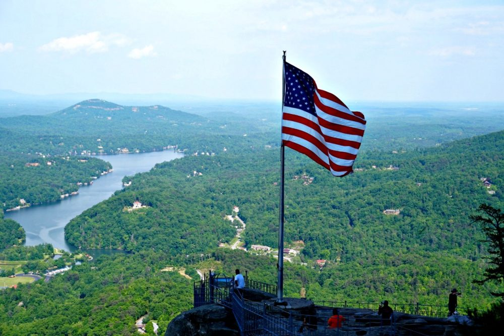 chimney rock north carolina hiking rving