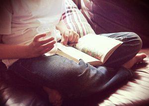 reading book rv rainy day activity
