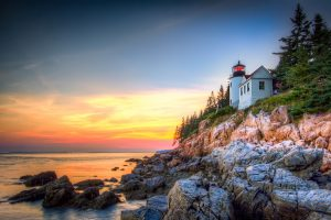 acadia national park bass harbor lighthouse bar harbor maine rv vacation
