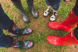 rainy day rv park bad weather rain boots circle
