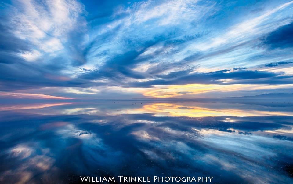 salton sea sunset california desert