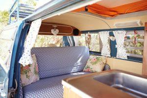 interior vintage camper van volkswagen
