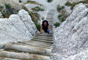 badlands national park ladder hiking