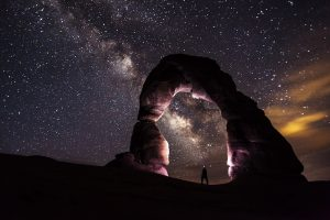 stargazing night sky utah arches national park rv camping