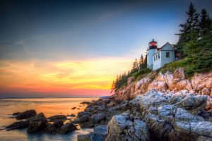 acadia national park maine rv camping bar harbor lighthouse