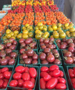 sunburst tomatoes farmers market florence oregon rving rv photography