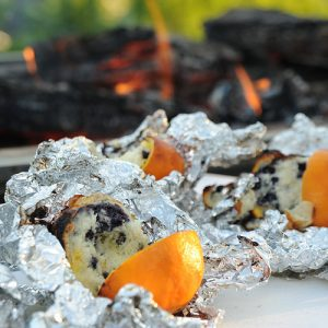 campfire orange muffin blueberry muffin rv camping kids fun recipe