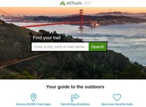 alltrails hiking app phone apps for rvers