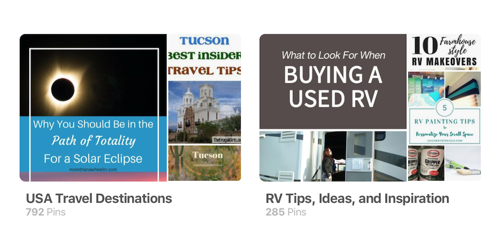 pinterest boards rv travel ideas planning a trip