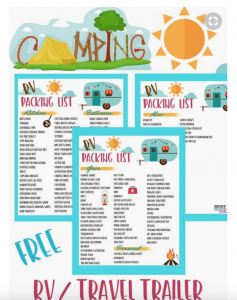 Packing checklist rv tips tricks pinterest ideas rving
