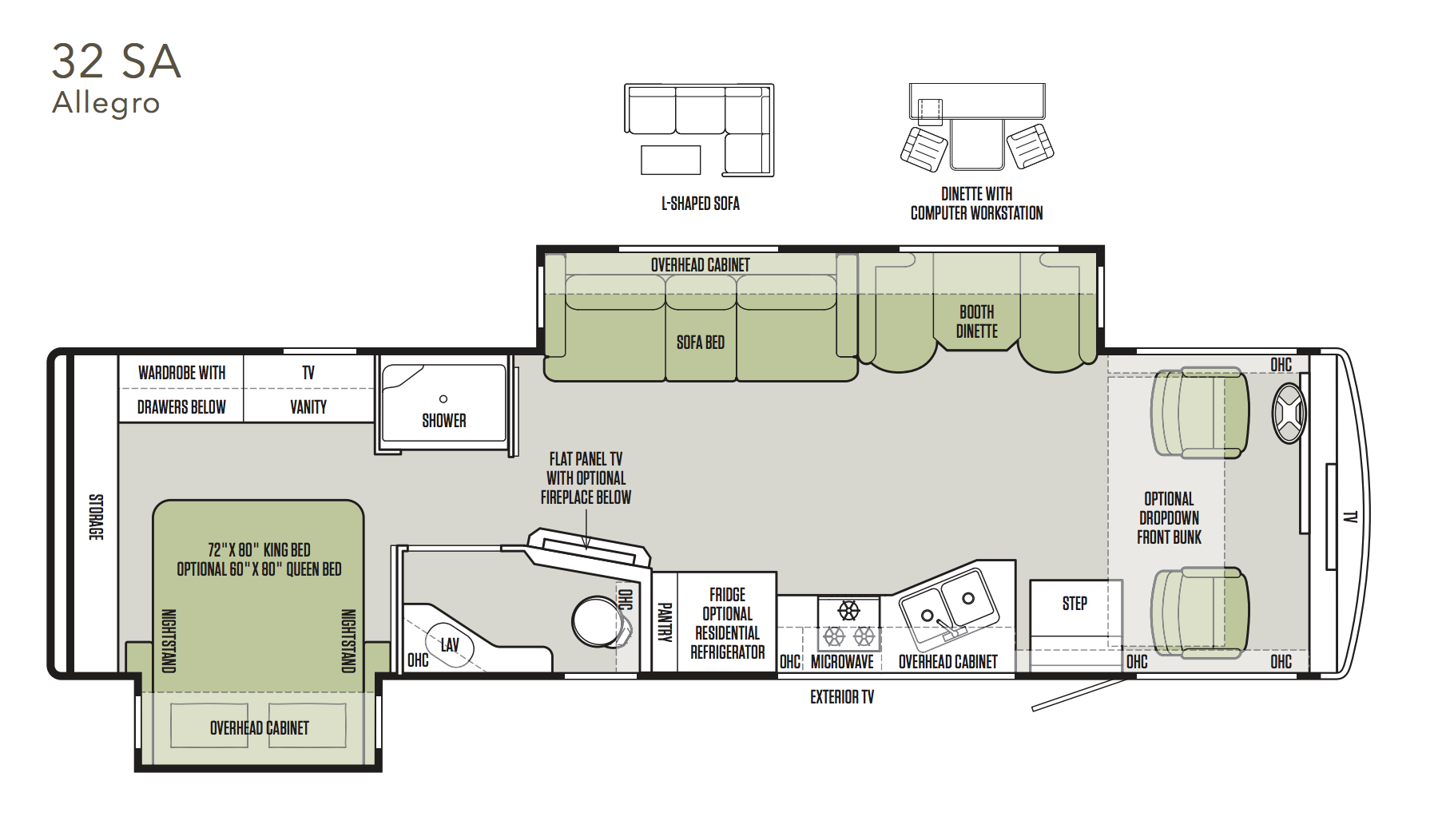 tiffin allegro rv floor plan buying a tiffin what you need to know