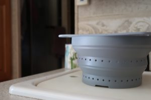 collapsable colander strainer rv storage solutions