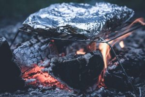 campfire burger in foil recipe kid rv camping dinner