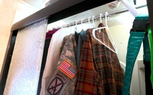 rv closet storage solution rv shower hack