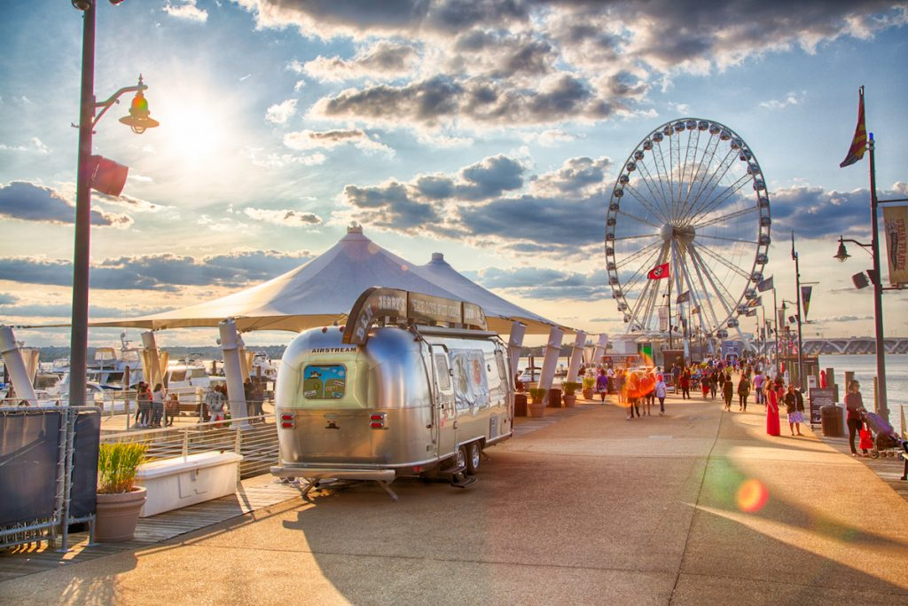 national harbor maryland airstream washington dc things to do potomac river